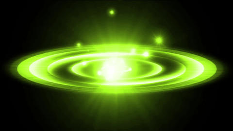 dazzling green explosion rays light & rotation sci-fi energy ripple Animation