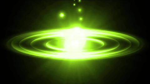 dazzling green explosion rays light & rotation sci-fi... Stock Video Footage