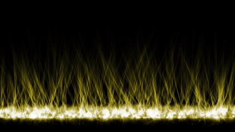 yellow fire lines,magnetic field Stock Video Footage