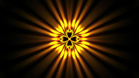 power golden rays laser energy field in space Animation