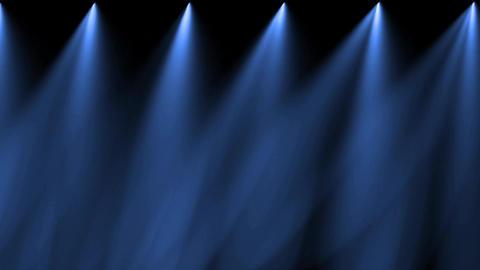 stage blue light & smoke Stock Video Footage