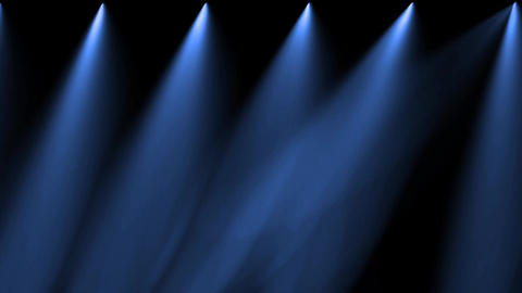 stage blue light & smoke Animation
