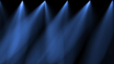 stage blue light & smoke Stock Video Footage
