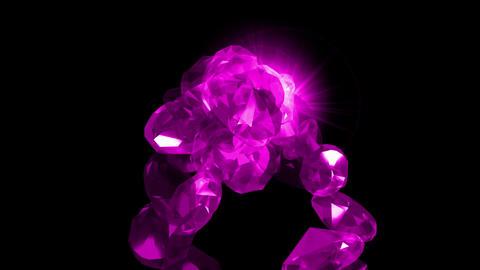 falling purple gems & diamonds Stock Video Footage