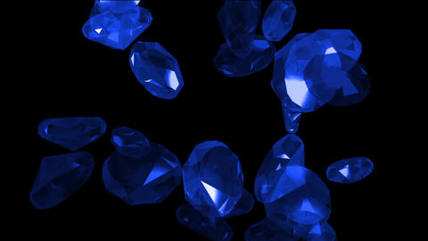 falling blue gems & diamonds Animation