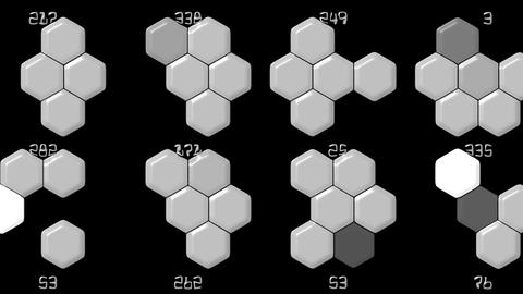 Hexagon chemical molecular & number Animation