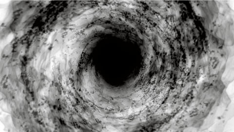 energy black vortex,travel in tunnel hole Stock Video Footage