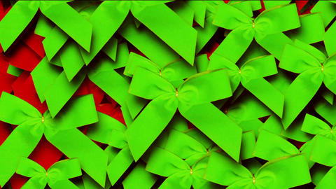green bow-knot background,chrismas & holiday decoration Stock Video Footage