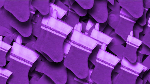 purple chrismas socks & rotate snowflake background Animation