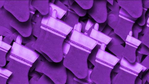purple chrismas socks & rotate snowflake background Stock Video Footage