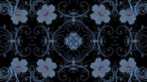 flower pattern background,Oriental style Stock Video Footage