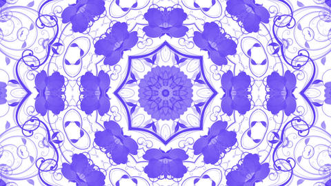 flower pattern background,Oriental style Stock Video Footage