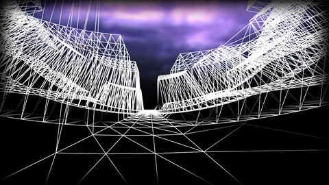 Wireframe Road 03 Stock Video Footage