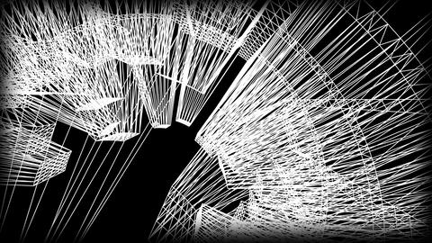 Wireframe Road 05 Animation