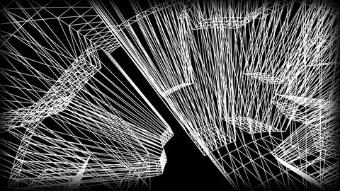 Wireframe Road 05 Stock Video Footage