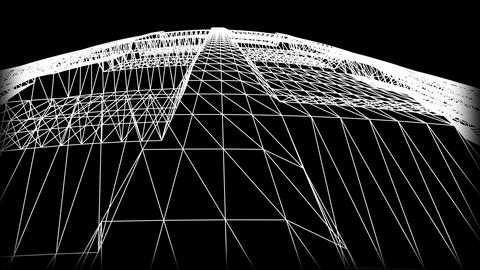 Wireframe Road 07 Stock Video Footage