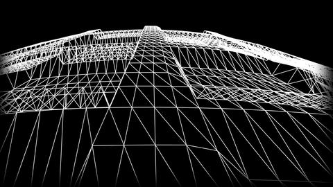 Wireframe Road 07 Animation
