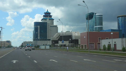 Streets of Astana Stock Video Footage