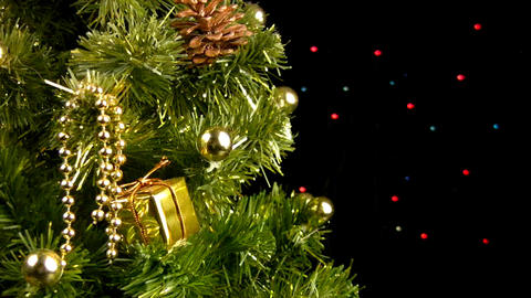 Christmas tree rotates Stock Video Footage