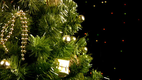 Christmas tree rotates Footage