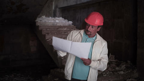 The Engineer-Builder Is At The Facility 2 Stock Video Footage