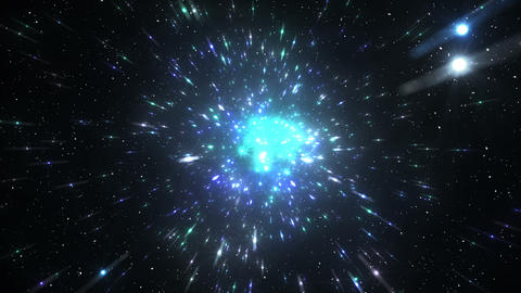 Star Field Space tunnel c 2a HD Stock Video Footage