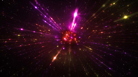 Star Field Space tunnel d 2c HD Stock Video Footage