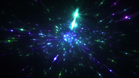 Star Field Space tunnel d 4a HD Stock Video Footage