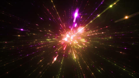 Star Field Space tunnel d 4c HD Stock Video Footage