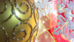 Christmas ball on a festive background Stock Video Footage