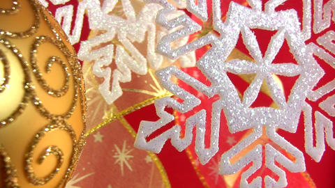 Christmas snowflake on a festive background Footage