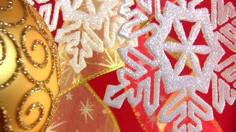 Christmas snowflake on a festive background Stock Video Footage