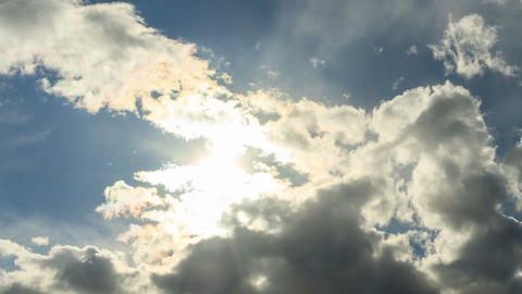 Light of the sun breaks through the clouds. Time L Stock Video Footage