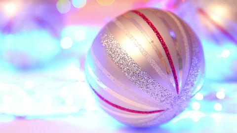 Christmas ball, traditional decoration on defocuse Footage