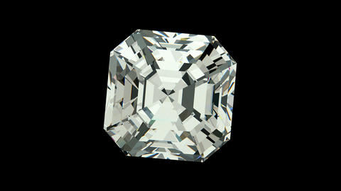 Asscher Cut Diamond stock footage