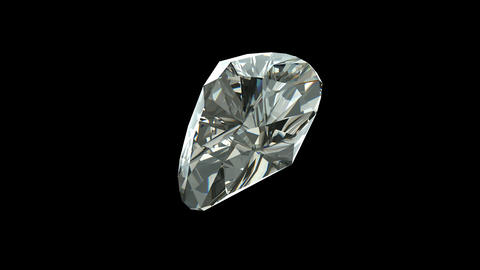 Heart Cut Diamond Stock Video Footage