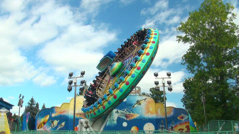 Carousel plate extreme attraction Stock Video Footage