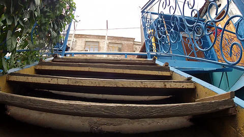 Ladder with handrails Stock Video Footage
