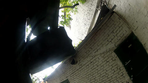 The drain on the roof Stock Video Footage
