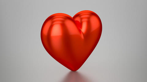 3D Red Heart - Animation (Loopable) stock footage