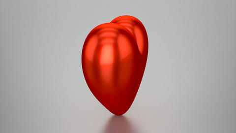 3D Red Heart - Animation (Loopable) Stock Video Footage