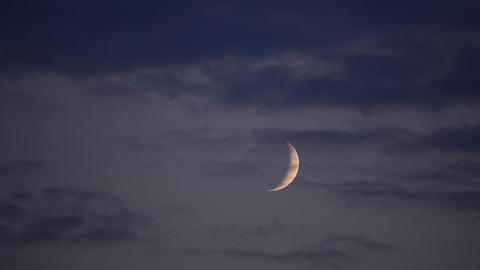 Moon timelapse with clouds Stock Video Footage