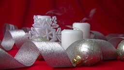 Quenching of Christmas candles (slow motion) Stock Video Footage
