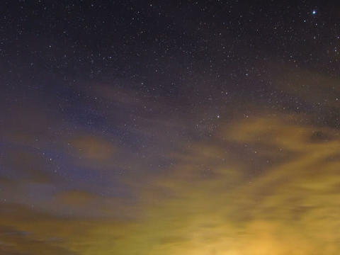 Sunset, then see the Milky Way. Time Lapse Stock Video Footage