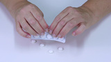 Taking Out White Pills stock footage
