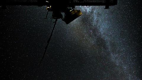 4k UHD radio telescope stars milky way time 11089 Stock Video Footage