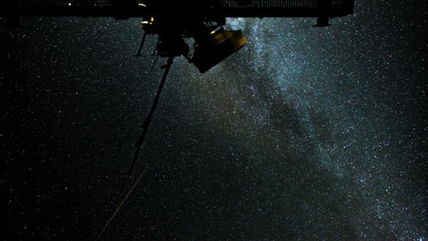 4k UHD radio telescope stars milky way time 11089 Footage