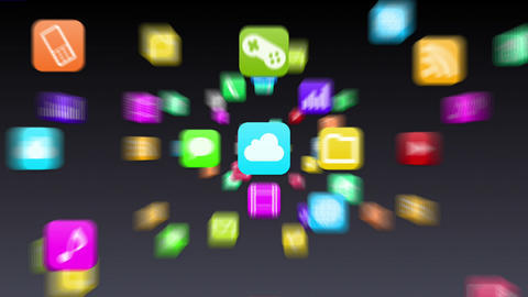 Smart Phone apps G 7 Gb 1 D 1 Wide Stock Video Footage