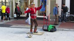Street Entertainer Stock Video Footage