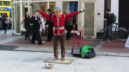 Street Entertainer Stock Video Footage